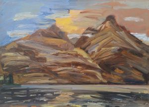 Steve Lopes - Morning Bay View - Study - 32x45cm