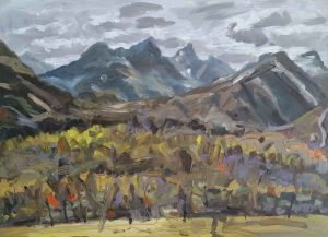 Steve Lopes - Mountain Pass - 32x45cm