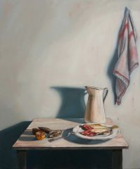 Mirra Whale - Mussels, leatherjacket and jug - 94x78cm