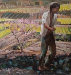 Steve Lopes - New Field Figure - 38x40cm