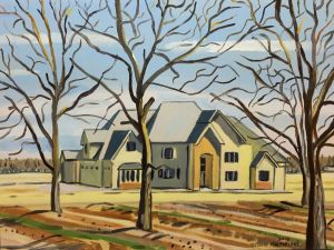 Stewart MacFarlane - Roswell House in Winter - 46x61cm