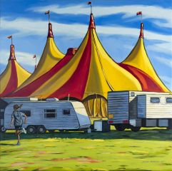 Stewart MacFarlane - Big Top - 153x153cm