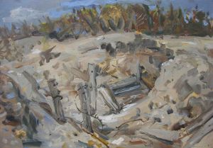 Steve Lopes - Trench The Nek - 29x42cm