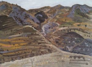 Steve Lopes - Valley View Study - 32x41cm