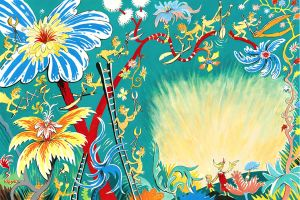 Dr Seuss - A Plethora of Flowers - 61x91cm