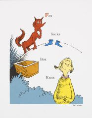 Dr Seuss - Fox Socks Box Knox - 30x2cm
