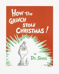 Dr Seuss - Grinch - Book Cover - 35x28cm