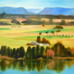 Jeff Makin - Hawkesbury River Dreaming - 167x167cm