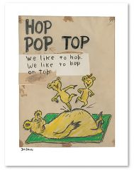 Dr Seuss - Hop Pop Top (Single) - 47x36cm