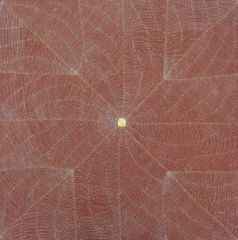 Margaret Loy Pula - Anatye (Bush Potato) - 92x92cm