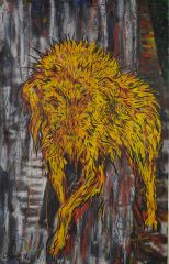 George Gittoes - Old Dog - 214x138cm