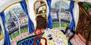 Bernard Ollis - Room With Two Windows - 72x150cm