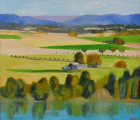 Jeff Makin - Study for Hawkesbury Dreaming - 60x70cm